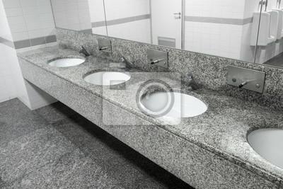 Becken In Steinplatte Abgelegt Waschbecken In Offentlichen