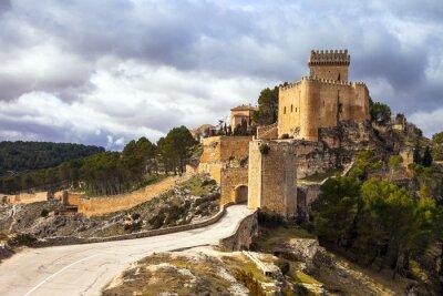 Fototapete Beeindruckende mittelalterliche Burg Alarcon, Spanien