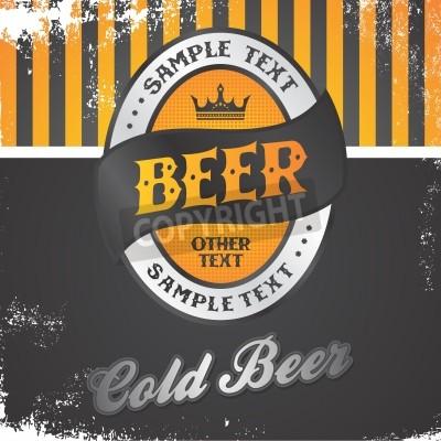 Fototapete beer label vintage