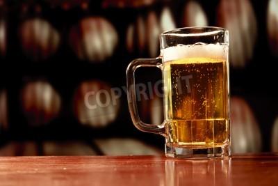 Fototapete beer mug on vintage background