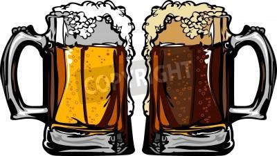 Fototapete Beer or Root Beer Mugs Images