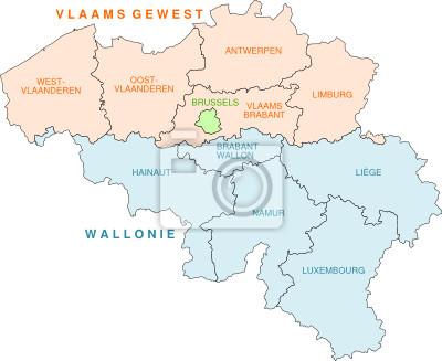 Belgien Karte Umriss.Fototapete Belgien Karte Der Provinzen
