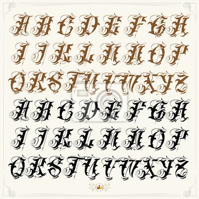Beliebte Gangster Tattoo Schrift Fototapete Fototapeten Rudiment