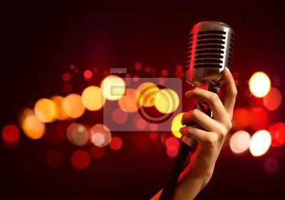 Fototapete Beliebte Sängerin