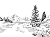 garten grafik schwarz wei landschaft skizze illustration vektor fototapete fototapeten wicket. Black Bedroom Furniture Sets. Home Design Ideas