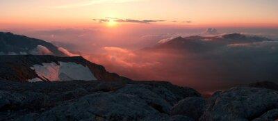 Fototapete Berg Sonnenuntergang Sommer