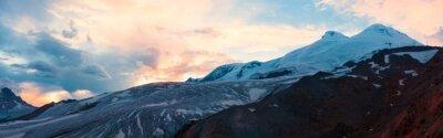 Fototapete Berg Sonnenuntergang Winter Panorama