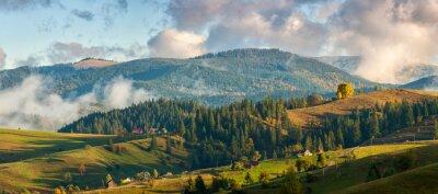 Fototapete Berge in den Wolken