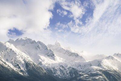 Fototapete Berge und Wolken