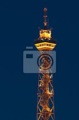 Funkturm Berlin Beleuchtung | Berlin Funkturm Fototapete Fototapeten Jager Beleuchtet By Night