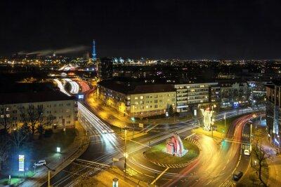 Fototapete Berlin Stadtleben bei Nacht