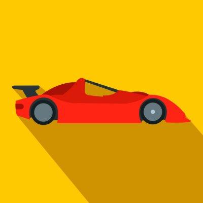 Fototapete Beschleunigung Rennwagen flache Ikone