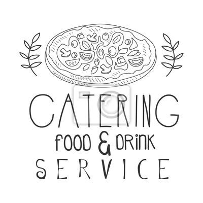 Beste Essen Und Trinken Catering Service Handgezeichnete Schwarz