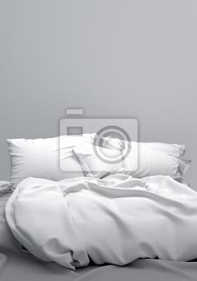Bett schlafzimmer boxspringbett doppelbett bettwäsche fototapete ...