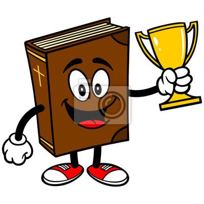 Bible School-Maskottchen mit Trophy