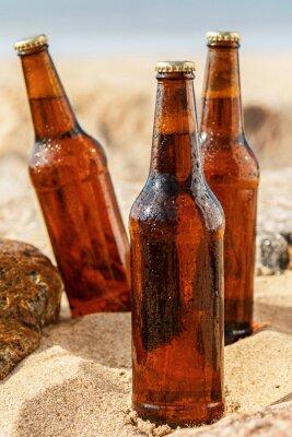 Fototapete Bier am Strand