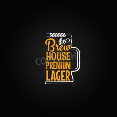 Fototapete Bier-Becherentwurfshintergrund