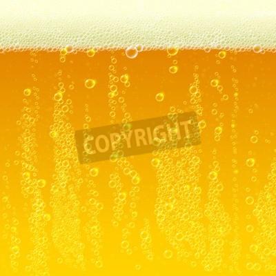 Fototapete Bier Hintergrund Textur mit Schaum und Blasen. Abbildung