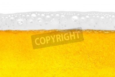 Fototapete Bier in close-up shot