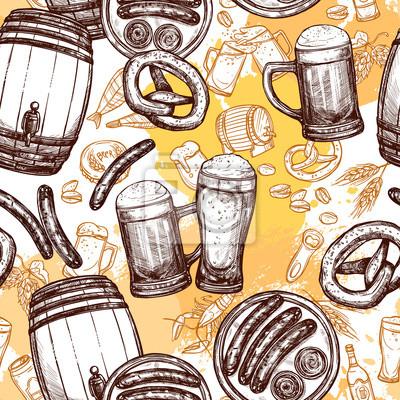 Bier-nahtloses Muster
