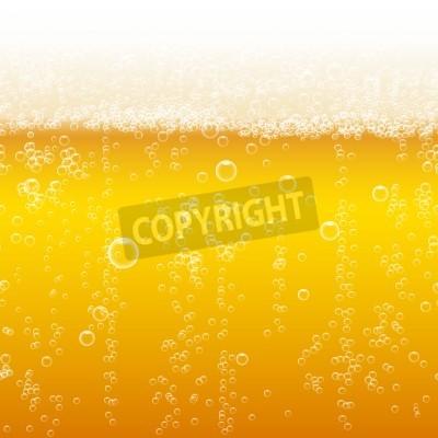 Fototapete Bier Schaum Hintergrund, horizontale nahtlose Bier-Muster