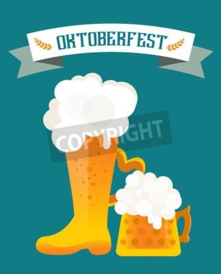 Fototapete Bier-Vektor-Icons gesetzt. Bierflasche, Bierglas und Bier-Label. Bier-Cup Silhouette, Bier Vektor-Icons, Bier isoliert. Oktoberfest Bier Vektor-Set. Bier trinken, Bier Schild, Bier Pub Alkohol