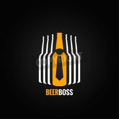Fototapete Bierflasche Chef Konzept Design Hintergrund