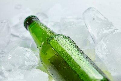 Fototapete Bierflasche im Eis