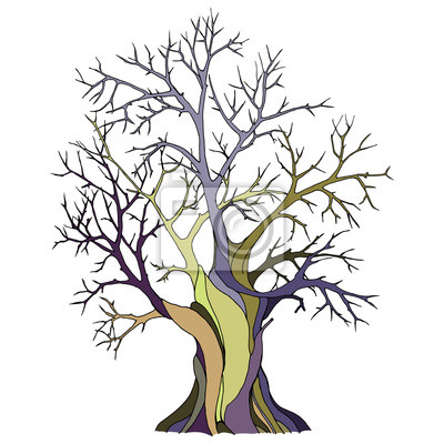 Ausgezeichnet Kahler Baum Umriss Färbung Seite Ideen - Beispiel ...
