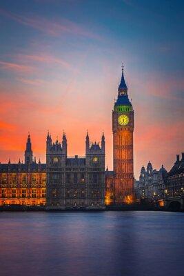 Fototapete Big Ben und Häuser des Parlaments, London