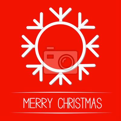 Big Schneeflocke. Merry Christmas card.