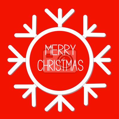 Big Schneeflocke. Text im Inneren. Merry Christmas card.
