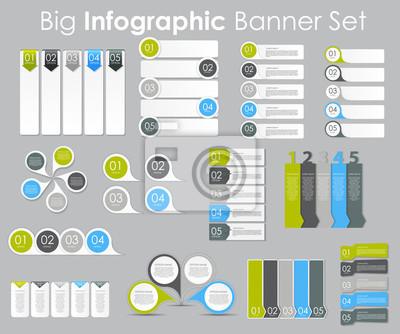 Big set von infografik banner vorlagen für ihren business-vektor ...