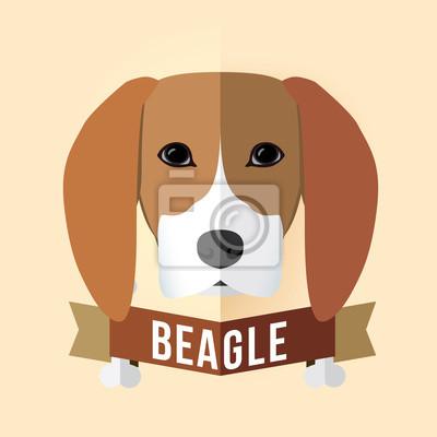 Bild eines Hundes Gesicht. Beagle. Abbildung