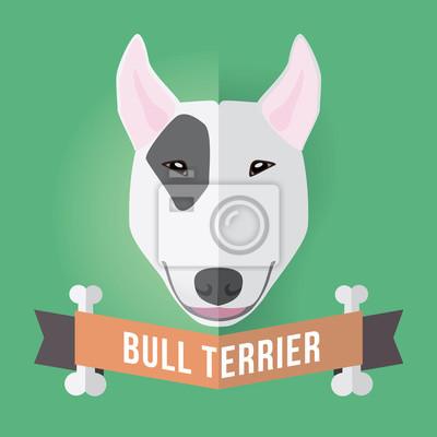 Bild eines Hundes Gesicht. Bullterrier. Abbildung