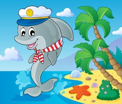 Fototapete Bild mit Delphin Thema 3