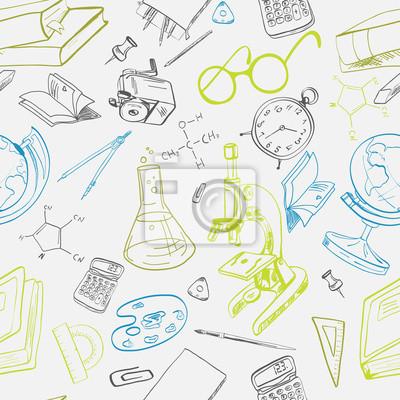 Bildung Symbol doodle nahtlose