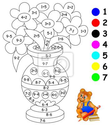 Bildungsseite mit übungen für kinder bei addition und subtraktion ...