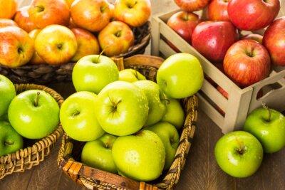 Fototapete Bio-Äpfel