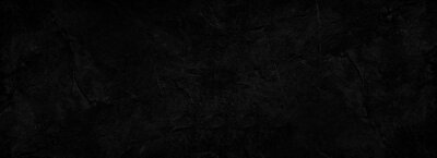 Fototapete Black abstract background. Dark rock texture. Black stone background with copy space for design. Web banner.