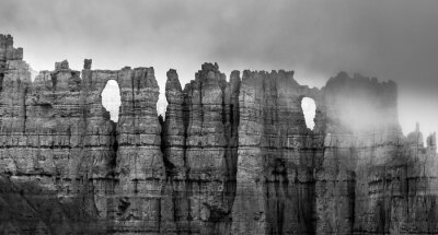 Fototapete Black and White Bryce Canyon