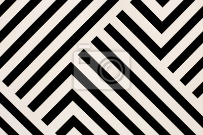 Fototapete Black and white lines abstract texture