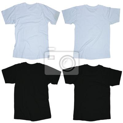 White T Shirt Template   Black And White T Shirt Template Fototapete Fototapeten Ausrustung
