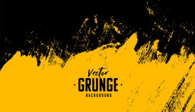 Fototapete black and yellow abstract dirty grunge background