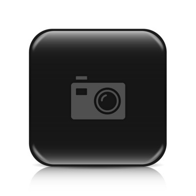Fototapete Black Blank Icon Template With Copy Space