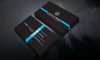 Fototapete Black color Modern Business Card