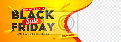Fototapete Black Friday sale website banner design with space for your product image.