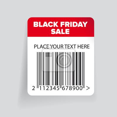 Black friday verkauf barcode-label-vorlage vektor fototapete ...