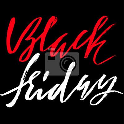 Fototapete Black Friday Verkauf handgezeichneten grunge Schriftzug. Abbildung.