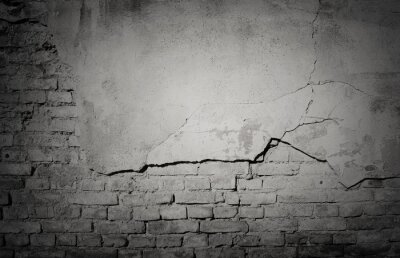 Fototapete Black Grunge verwitterte, gebrochene Mauer Textur